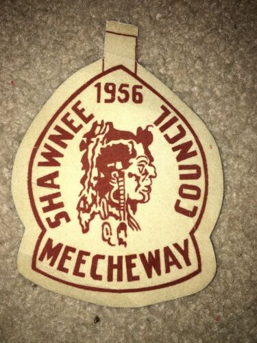 Boy Scout BSA 1956 Meecheway Shawnee Ohio Council Camp Felt Patch
