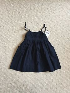NEW 12 Month Girl summer dress Navy Blue