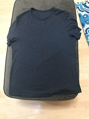 Lululemon 5 Year Basic Tee Updated Fit Heathered Dark Charcoal Gray Mens Large L