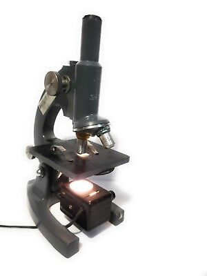 Vintage Bausch Lomb Microscope 10x 43x