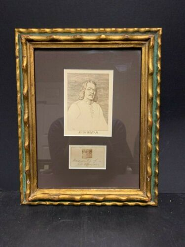 John Bunyan Original Small Piece of Handwritten Sermon - Circa. 17th century