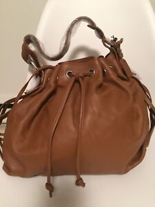 Never-used Ecco leather satchel purse