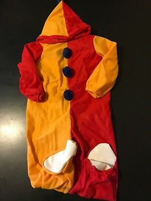 Vintage 70s 80s Jama Youth Kids Toddler 2-4 Clown Halloween Costume ](Toddler 80s Costume)