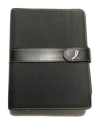 Pink Ribbon Day-timer Planner Binder With Refill Insert Franklin Covey Imperfect