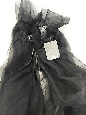 Pottery Barn Kids Adult Witch's Hat Halloween Accessory  Cape- Tie NWT