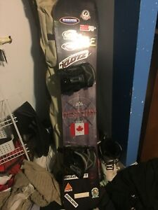 Snowboard and equipment