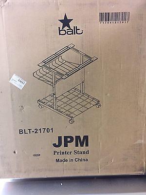 Balt Jpm Blt 21701 Adjustable Printer Stand With Basket  24W X 29D X 29H  Gray