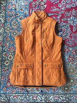 New - BARBOUR Wray Gilet Vest - Marmalade- US 8