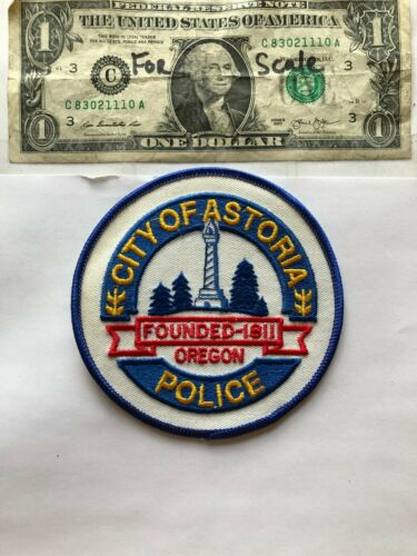 Astoria Oregon Police Patch Un-sewn great condition