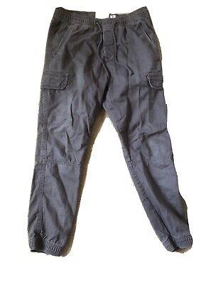 Abercrombie & Fitch Pants Mens Size Medium Grey Cargo Jogger 100% Cotton