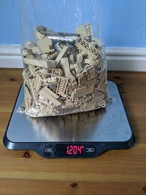 LEGO 1.2kg Tan Dark Tan Sand Star Wars Harry Potter Bricks Pieces Joblot Bundle