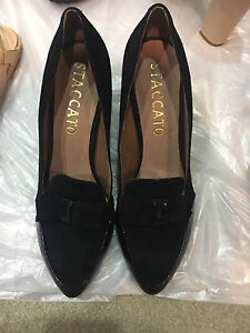 Brand new Staccato black suede leather heels Sydney City Inner Sydney Preview
