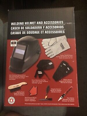 New Lincoln Electric Auto-darkening Welding Helmet Starter Kit With No. 11 Lens
