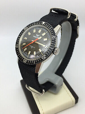 Watham Vintage Skin Diver Watch Swiss movement 17 Jewels Incabloc 1960's