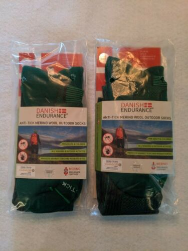 Danish Endurance, Merino Wool, Mens/Womens Hiking, Outdoor,Sport,Socks (2 pair)