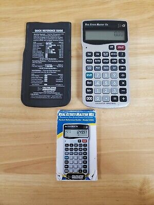 Calculator Industries Real Estate Master Lllx Model 3405 - Instructions Included