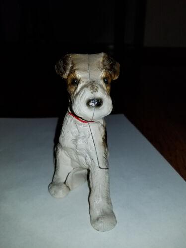 Original Cast Iron Wire Hair Terrier Still Bank Hubley