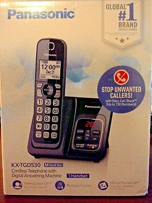 Panosonic Kx-gd530 Cordless Home Phone Set With Mounting