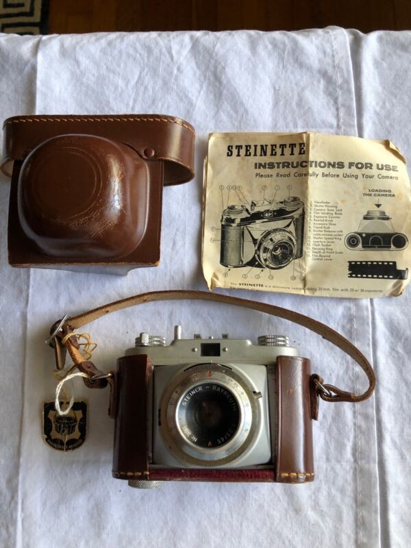 Steiner Steinette Miniature 35mm Camera VINTAGE 1956. Includes case and Manual