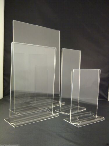 ACRYLIC MENU HOLDERS SIGN DISPLAYS A3, A4, A5, A6 & DL SIZE LEAFLET FLYER STANDS