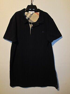 BURBERRY Children * 14 Y * Youth Boys Navy Blue Polo T-Shirt Nova Check Trim
