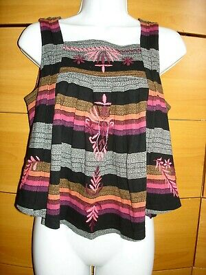 FREE PEOPLE Black Combo Womens Top Size S