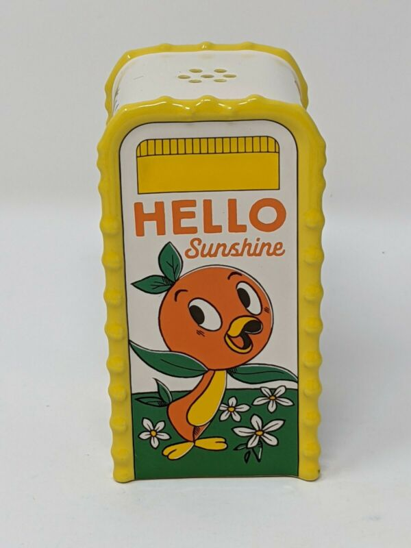 Orange Bird Hello Sunshine Trashcan Salt Or Pepper Shaker Disney Parks