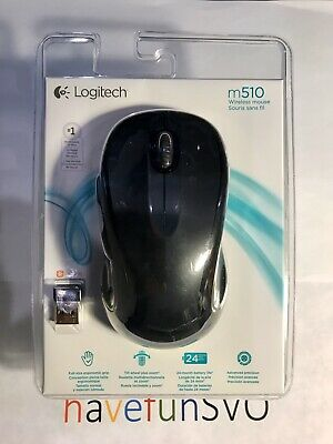 New Logitech M510 Wireless USB Full Size Laser Mouse-Gray, Ships Worldwide!