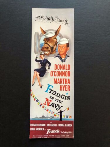 "One Desire & Francis in the Navy Movie Bookmark (1955) - 4"" x 11"""
