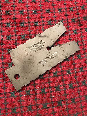 Vintage L. S. Starrett No. 284 29 Degree Screw Thread Gage.
