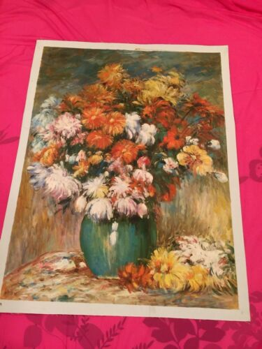 """Vase of Chry Santhemums -Oil Painting reproduction -Canvas 30x40"""" Free Shipping"""