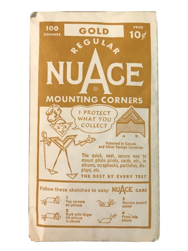 Vintage Nuace GOLD Mounting Corners 100 Corners  NOS Sealed Package