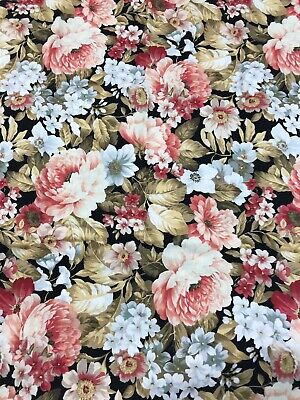 1 Yard Floral Fabric HOBBY LOBBY beautiful flower floral sewing crafting