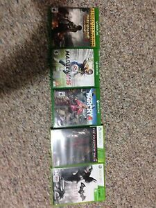 Xbox One and Xbox 360 games for sale or trade