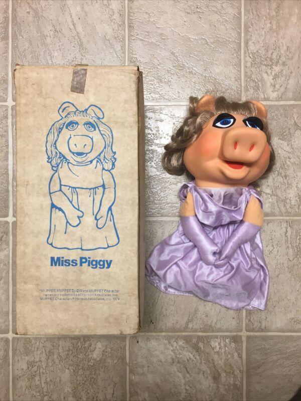 Vintage Miss Piggy Puppet Fisher-Price 855 w/ Original Box