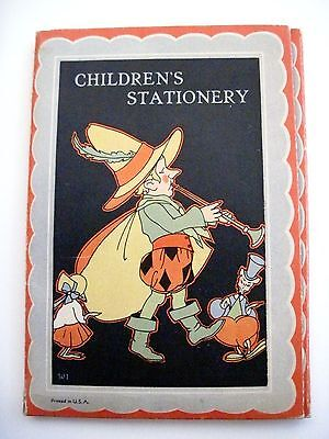Vintage Children's Stationery w/ 3 Colored Paper and Envelopes w/ Booklet * - Children's Stationery