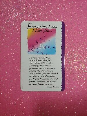 Blue Mountain Arts Wallet Cards Every Time I Say I Love You  Blue Mountain Arts