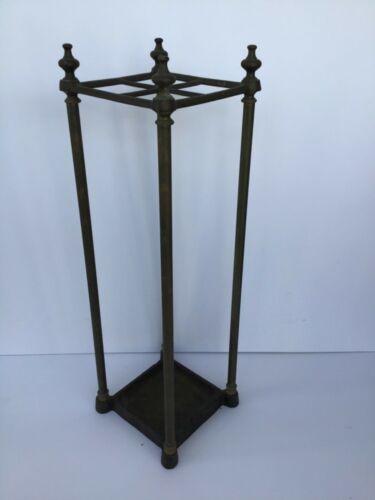Antique Victorian Brass & Cast Iron Walking Stick Stand or Umbrella Stand