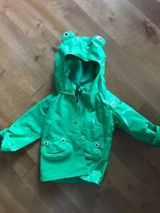Toddler rain jacket- frog