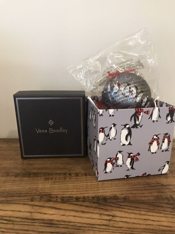 Vera Bradley Playful PENGUINS Silver Ornament NWT CHRISTMAS Gift