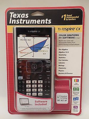 TI Nspire CX Texas Instruments Color Graphing Calculator w/ Software PC/MAC NISP