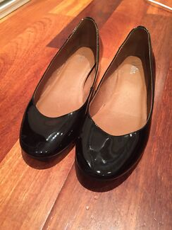 WITTNER BLACK LEATHER BALLET FLATS SIZE 40/9 Belmore Canterbury Area Preview