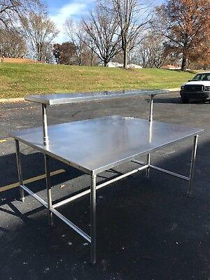 Heavy Duty Stainless Steel Work Table Restaurant Equipment.