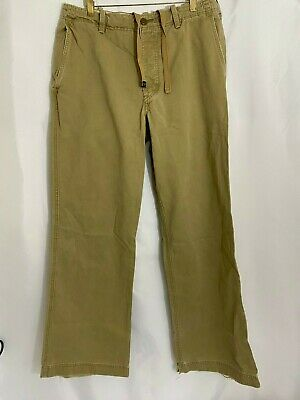 Men's Abercrombie and Fitch Drawstring Khaki Pant - 100% Cotton 33 x 34