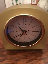 Vintage Bulova Lucite Desk Alarm Clock Keeps Perfect Time
