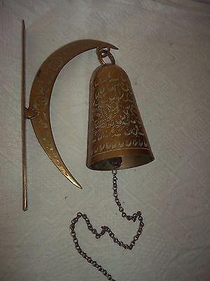 Old Ladenglocke-Türglocke-Glocke with Halterung-Halbmond and Chain