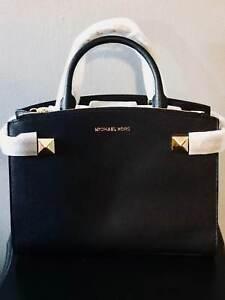 42406f07282f Michael Kors Karlal 35t8gkgs2l Black Medium EW Satchel Leather for ...