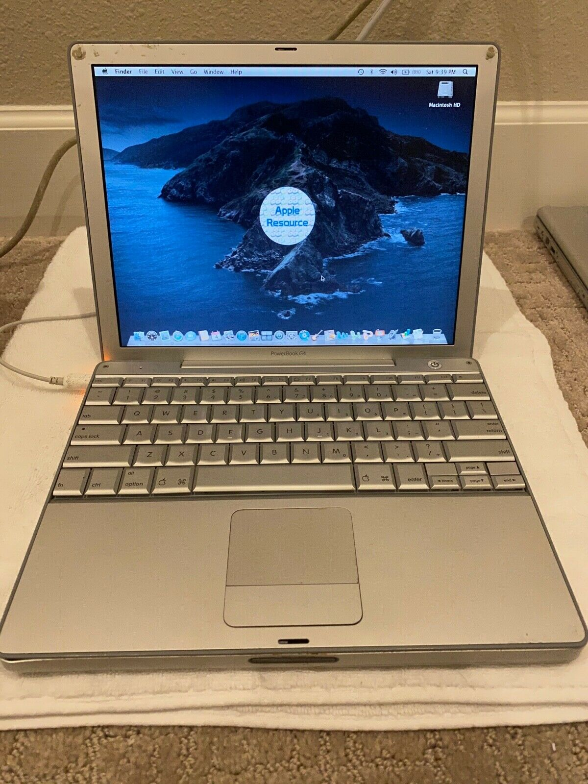 Apple PowerBook G4 12 1.5Ghz 100GB 1.25GB A1104 6,8 SuperDrive - $89.00