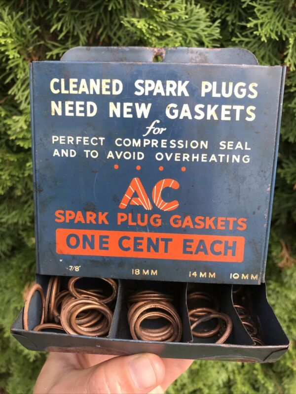 AC Spark Plugs Advertising Display Sign Gaskets Gas Oil Auto