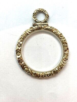 Antique 18th Century Georgian 9CT Gold Cased Embossed Magnifying Quizzing Glass